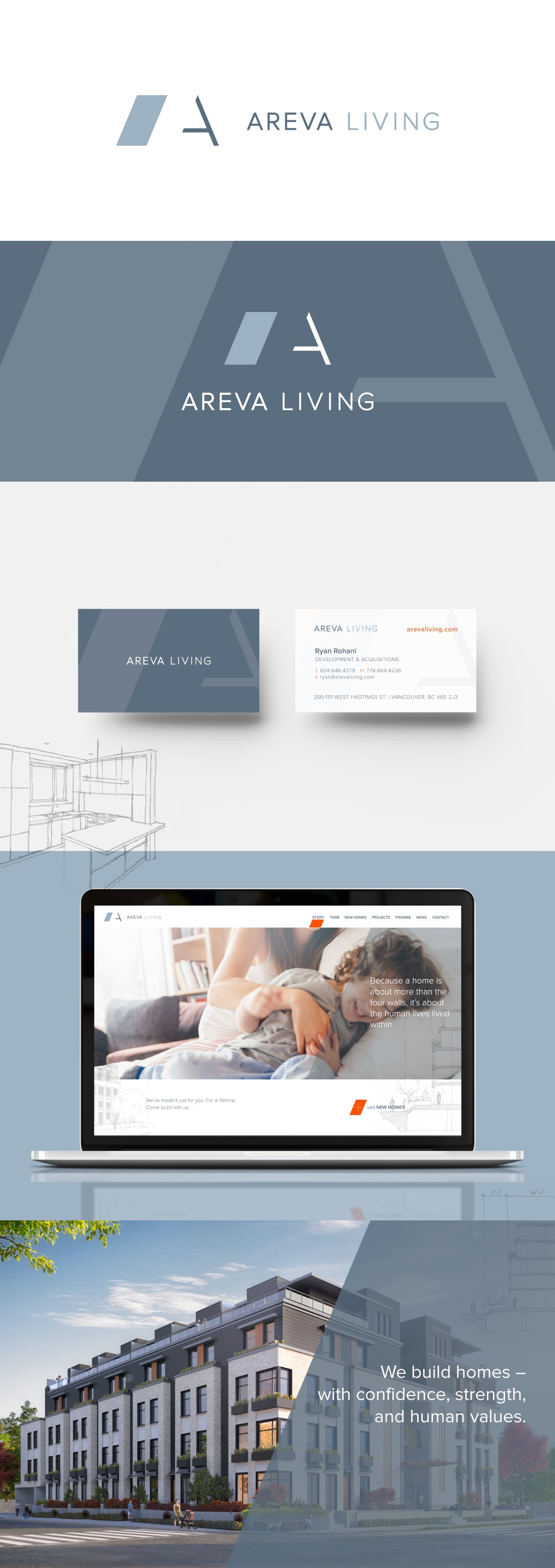 Areva Living brand and website