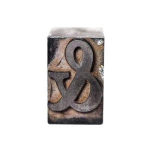 ampersand letterpress type